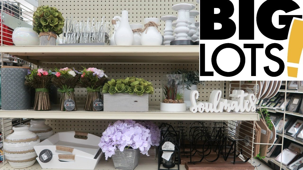 Big Lots Shopping Spring Home Decor Come With Me Youtube