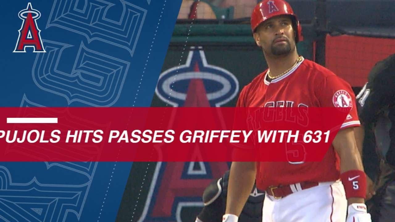 Albert Pujols belts 631st HR to pass Ken Griffey Jr.