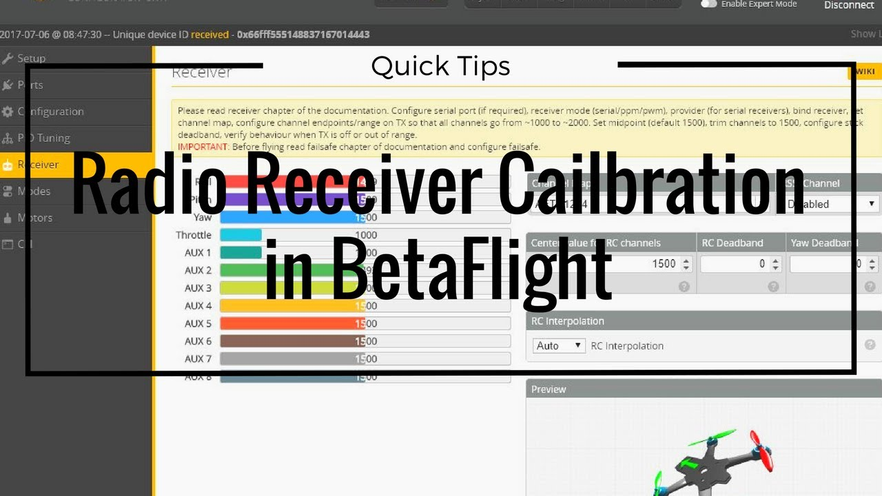 Quadcopter not Arming? 🐝 How to Solve in BetaFlight – DroneTrest Blog