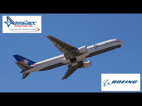 Amerijet Boeing 767-300 Freighter Takeoff @ Curacao Airport