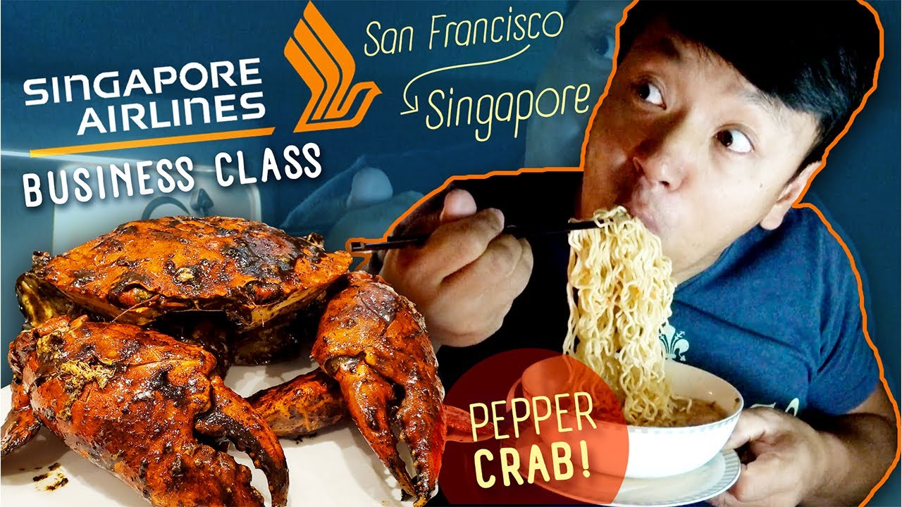 Singapore PEPPER CRAB & Singapore Airline Business Class BOOK THE COOK Review