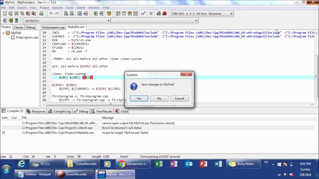 Bloodshed dev c++ for linux windows 7