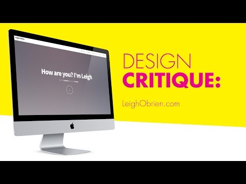 Critiquing Your Design - LeighObrien.com