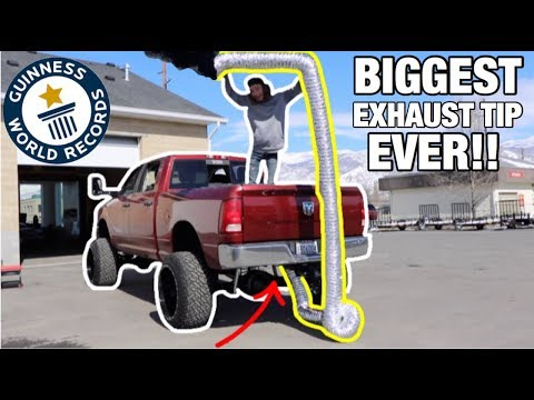 WORLDS BIGGEST EXHAUST TIP EVER ON MY CUMMINS!!