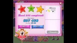 Candy Crush Saga Level 555 ★★★ NO BOOSTER