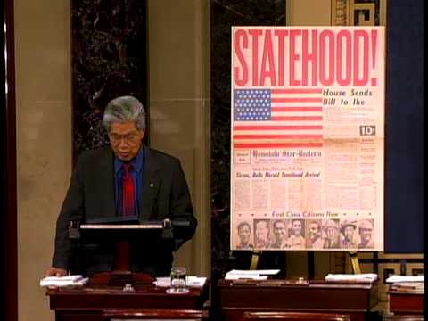 Hawaii Statehood 50th Anniversary Senate Resolution