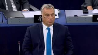 Sargentini-jelentés: Orbán beszéde az Európai Parlamentben