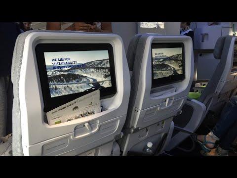 Finnair A350 ECONOMY class | London Heathrow to Helsinki (Exit row)
