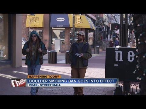 Smoking ban begins on Pearl Street Mall