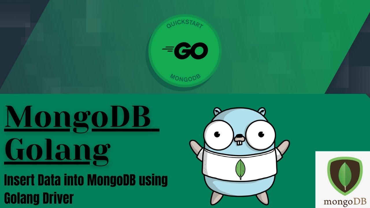 MongoDB Golang   Inserting Data into MongoDB using Golang Driver