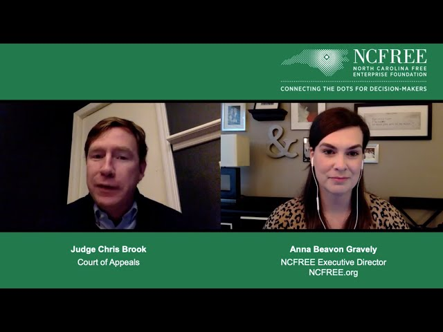 NCFREE Judicial Interview - Judge Chris Brook - Court of Appeals, Seat 13