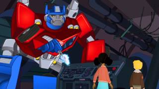 Transformers Rescue Bots Optimus Prime and Bumblebee Save The Day