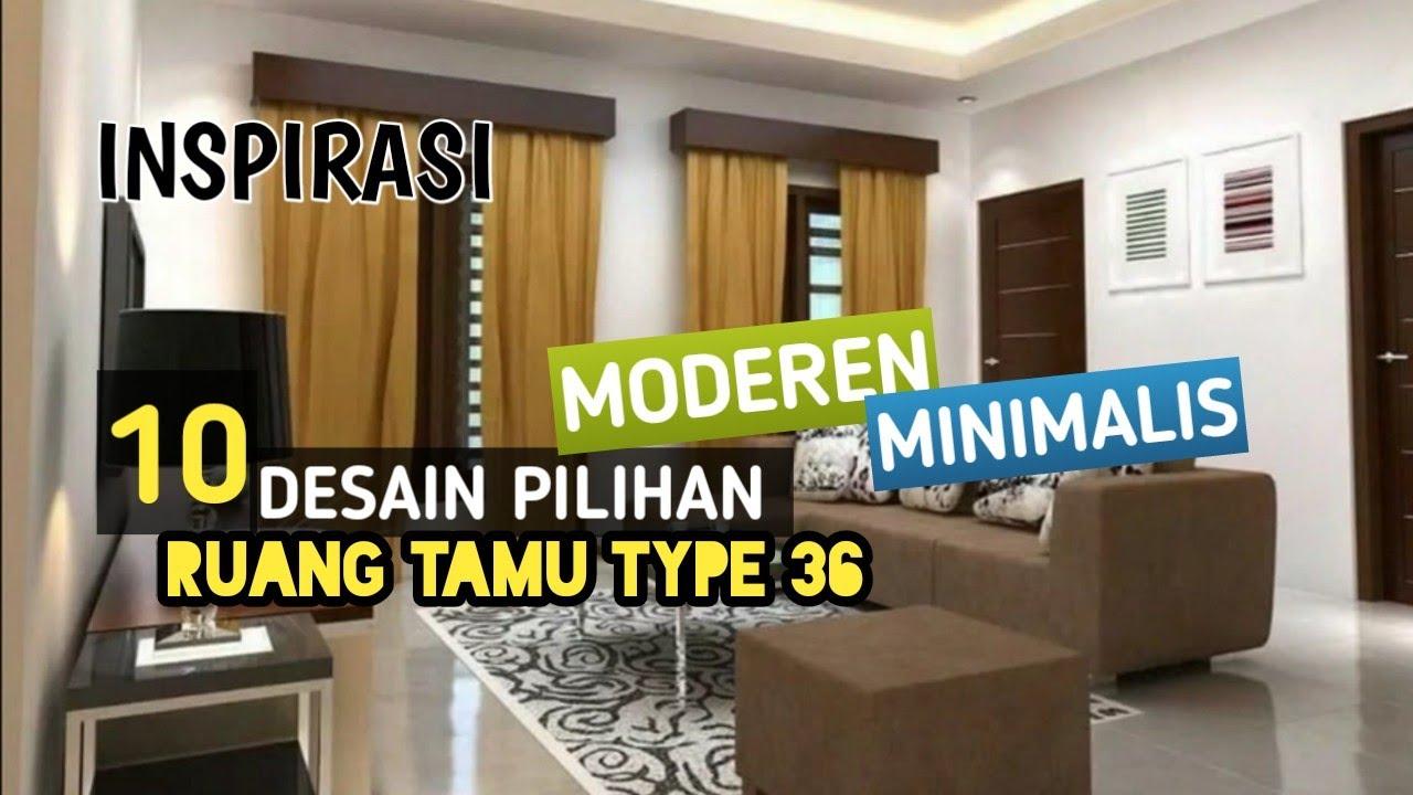 Inspirasi ruang tamu rumah type 36 - YouTube