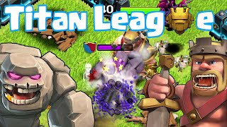 Clash Of Clans - KING VS. GOLEM!! Pro Gameplay!! (Titan League gameplay!!)