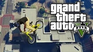 gta 5 online surviving a bike jump from the maze bank gta v online