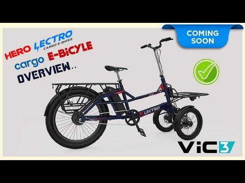 Hero Lectro Vic3  -India's electric bike, bicycle-  Hero Lectro Cargo Electric Bicycle |#herovic3 thumbnail