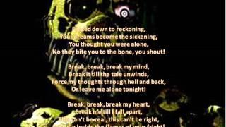 Pesadelo animatronics canta FNAF 4 canção quebrar minha mente Lyric (por RobloxMationR. A. R)