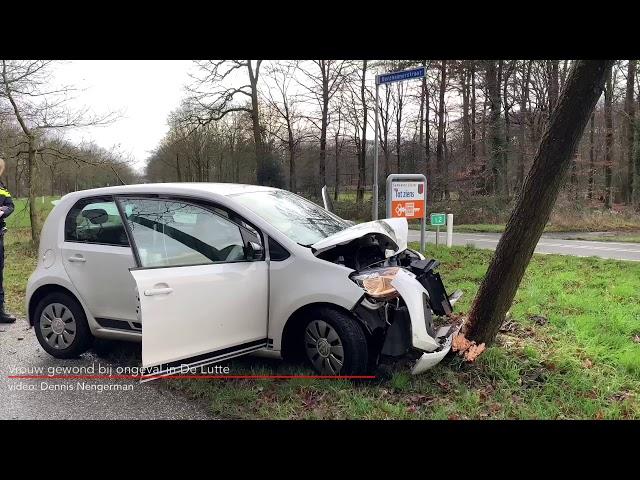 Vrouw gewond bij ongeval in De Lutte