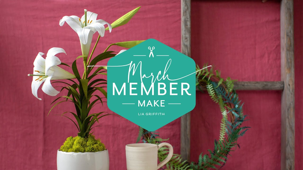 March Member Make: Crepe Paper Easter Lily