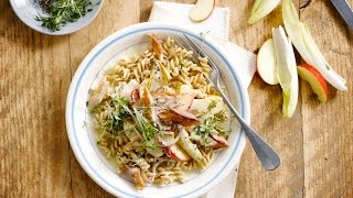 Alpro Recipe – Pasta With Mackerel, Chicory & Apple