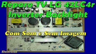 "TV LG 42"" tela escura! Reparo do inverter e backlight!"
