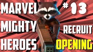 """★ Marvel Mighty Heroes IOS """"RECRUIT PACK OPENING #13"""" """"ROCKET RACCOON"""" """"VENOM"""" CBSKING757"""
