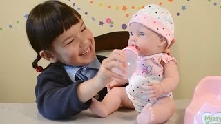 Baby Doll Missy Kissy  & Baby Born Magic Potty - Baby Annabell Lil Cutesies Potty Trainning