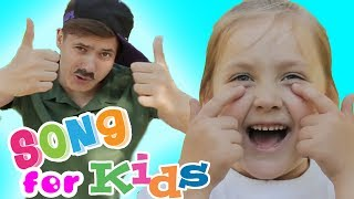 Head, Shoulders, Knees & Toes Exercise Song for Children Family fun
