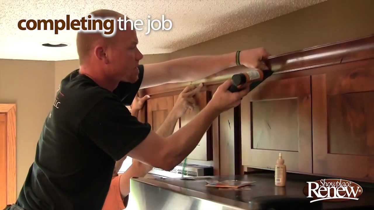 Kitchen Cabinets Refacing Before And After renew cabinet refacing - from before to after - youtube