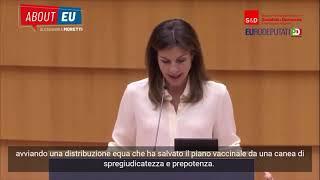 Intervento durante la Plenaria del Parlamento europeo di Alessandra Moretti sull'Unione europea della salute.