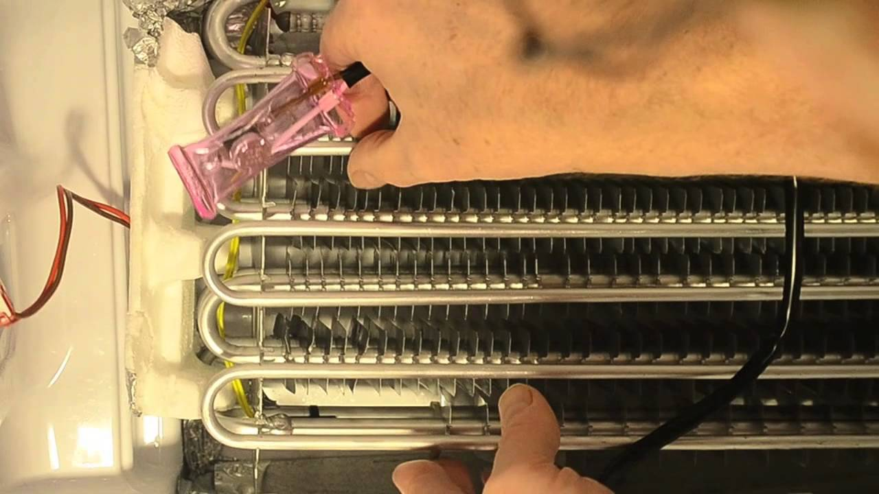 how to replace a thermal fuse and defrost sensor in a refrigerator freezer youtube [ 1280 x 720 Pixel ]