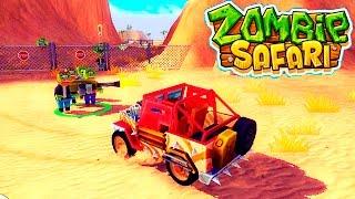 МАШИНКИ ПРОТИВ ЗОМБИ zombie safari #1 Прохождение игры для детей как мультики про машинки kids games