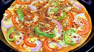 No Cheese, No Yeast No Oven Veg Pizza | godhumai pizza in tamil