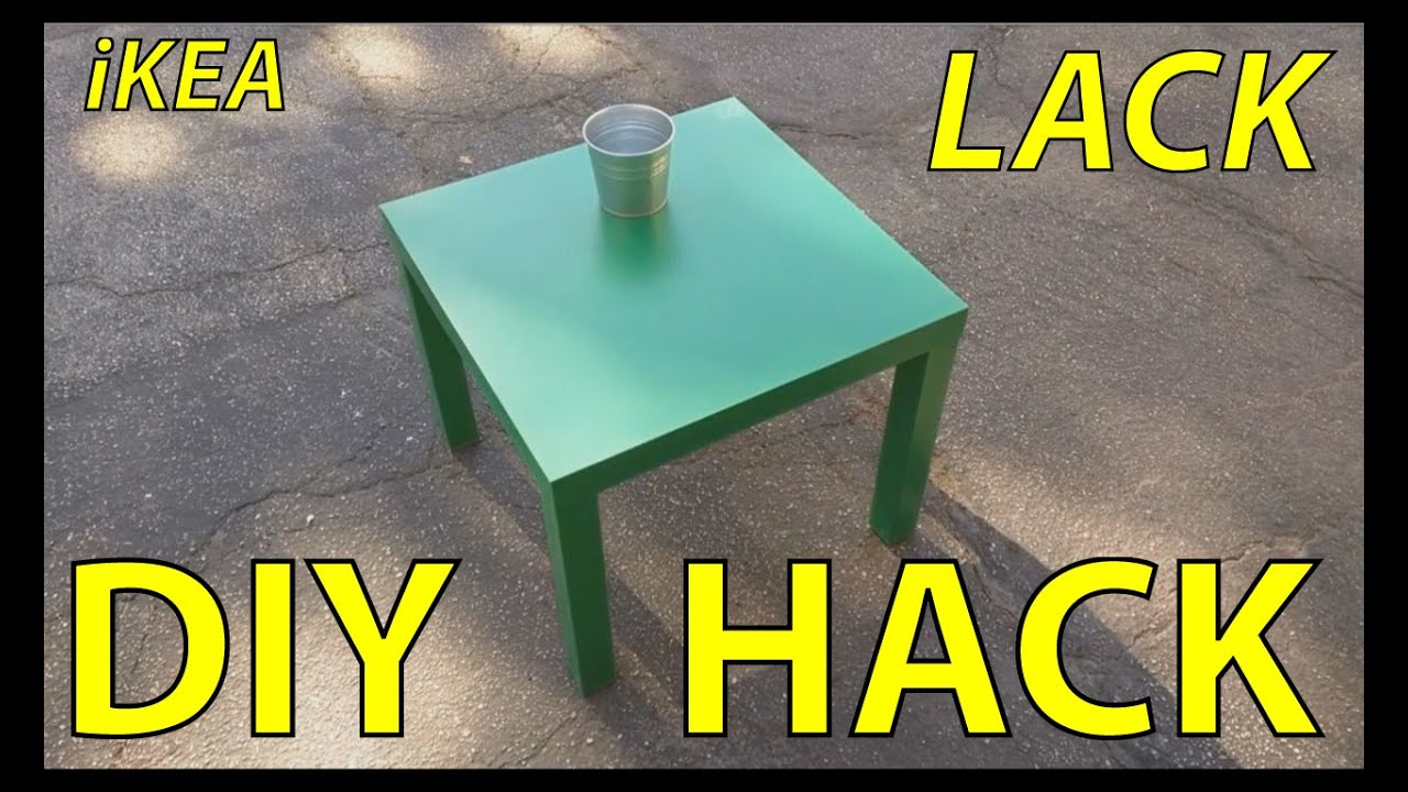 ikea lack table hack container inset diy youtube