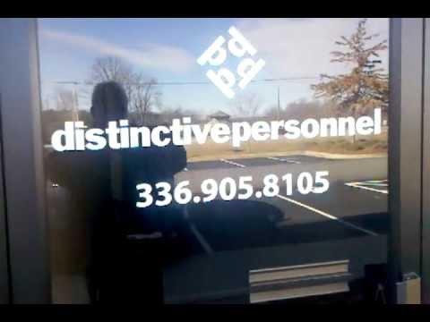 Distinctive Personnel store front North Carolina