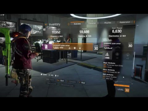 Basic Firearms, Stamina, Electronics Breakdown (The Division)