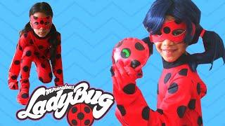 Sam como joaninha/Sam as  miraculous LadyBug