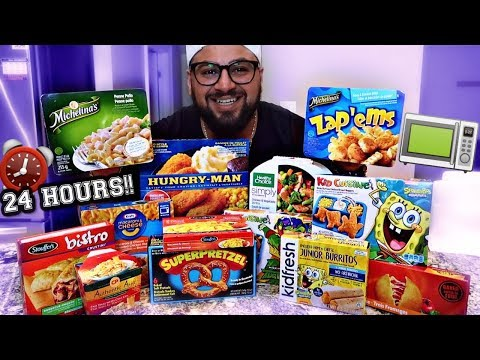 I Only Ate MICROWAVE FOODS for 24 Hours!! (EPIC FOOD CHALLENGE)