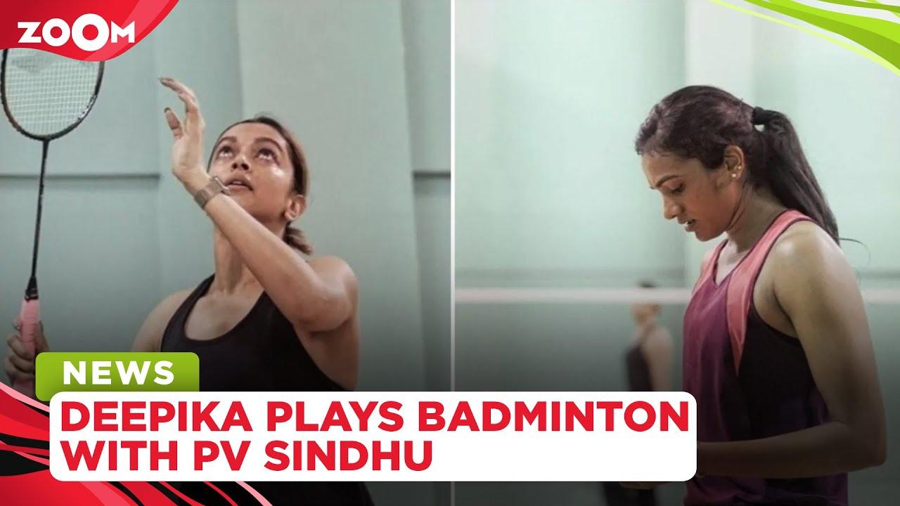 Download Deepika Padukone plays an intense badminton match with PV Sindhu