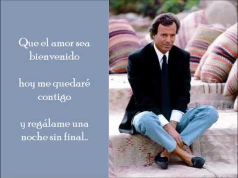 Si el Amor Llama a Tu Puerta - Julio Iglesias - (Lyrics)