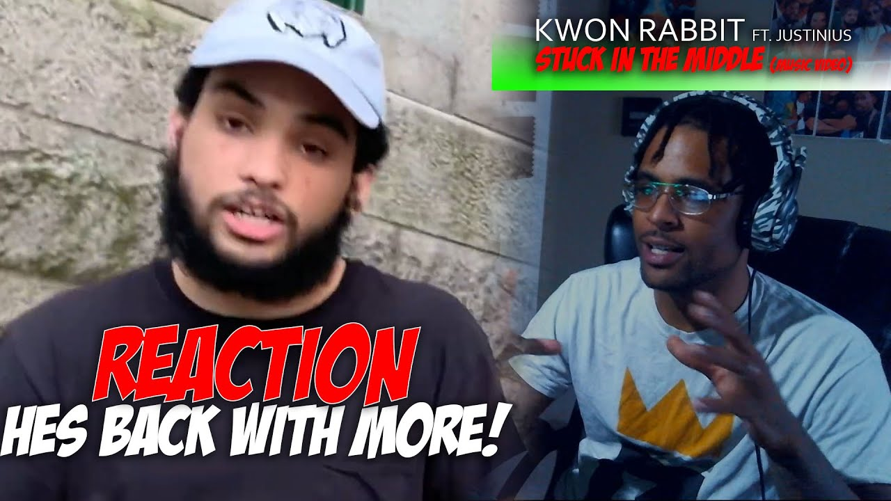 Kwon Rabbit - Stuck in the Middle (feat. Justinius) [Official Music Video] | nothing. *Reaction*