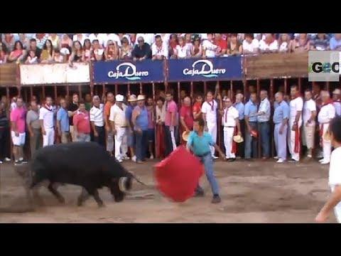 encierro-toros-coria-sanjuanes-fiesta-/-running-of-the-bulls-in-coria-spain-[igeo.tv]