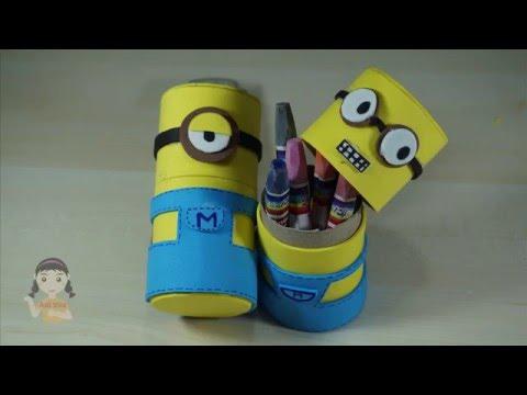 กล่องมินเนี่ยนจากแกนกระดาษทิชชู่ minions box craft