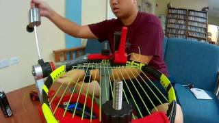 Racquet Stringing Time Lapse (Ep. 1) - Babolat Pure Aero