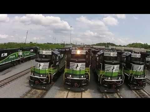 Special Norfolk Southern locomotives help Atlantans breathe easier