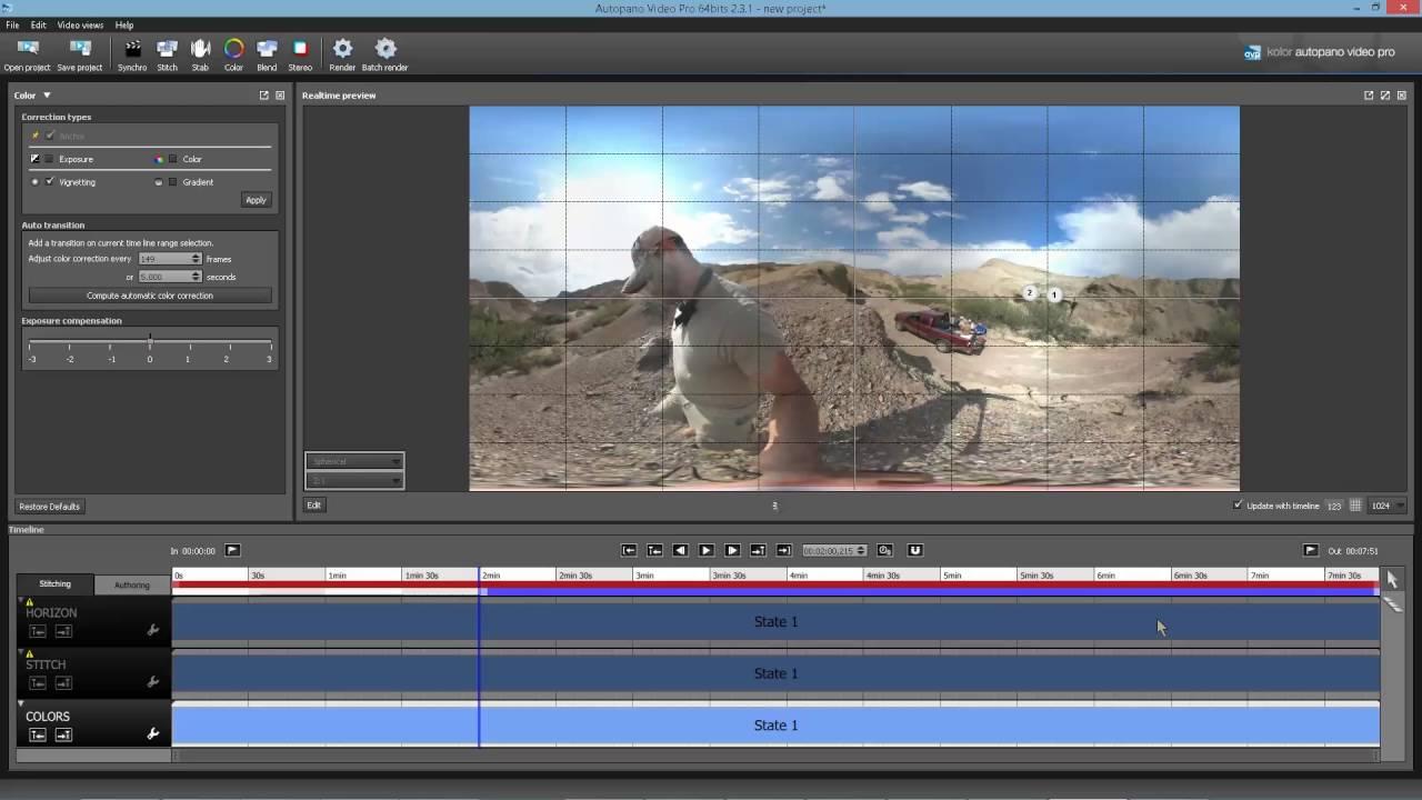 Stitching Samsung Gear 360 in Autopano Video Pro