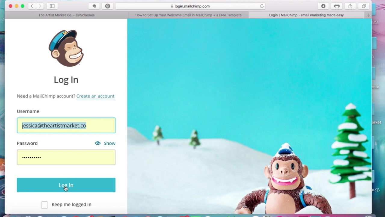 Artists Create A Welcome Email In Mailchimp A Free Template Youtube