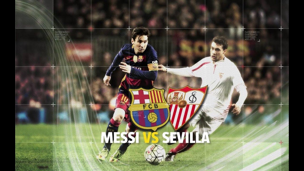 Lionel Messi vs Sevilla ● All GOALS ● HD