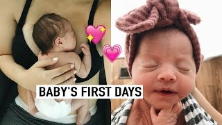 DAY IN THE LIFE WITH A NEWBORN AND A TODDLER VLOG!   BABY'S FIRST DAYS HOME