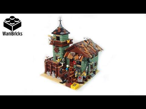 Lego IDEAS 21310 Old Fishing Store - Lego Speed Build